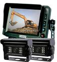 5寸挖掘机后视系统 工程车辆监控系统 挖掘机倒车影像 带2路自动带加热功能夜视摄像头