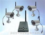 无线微波数字影音四路四分割收录存储显示传输700米红外摄像