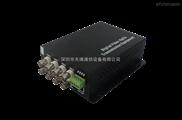 8路视频带数据单模单纤20km FC 数字光端机