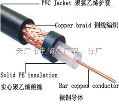 75Ω物理发泡聚乙烯绝缘聚乙烯护套铁路通信漏泄同轴电缆