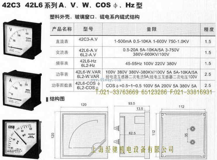 42l6-a指针式电流表