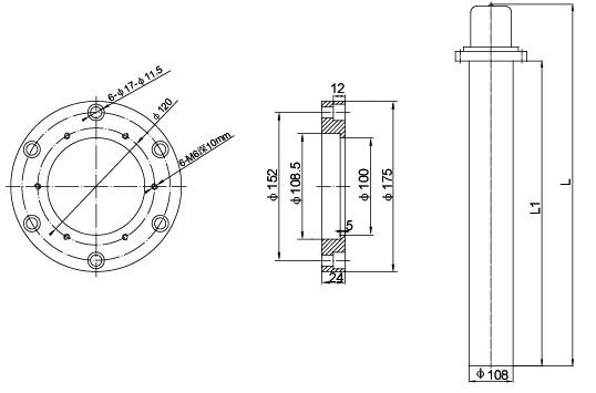 护套管采用薄型不锈钢制成,它散热面积较大,传热快,接线端装置部分分