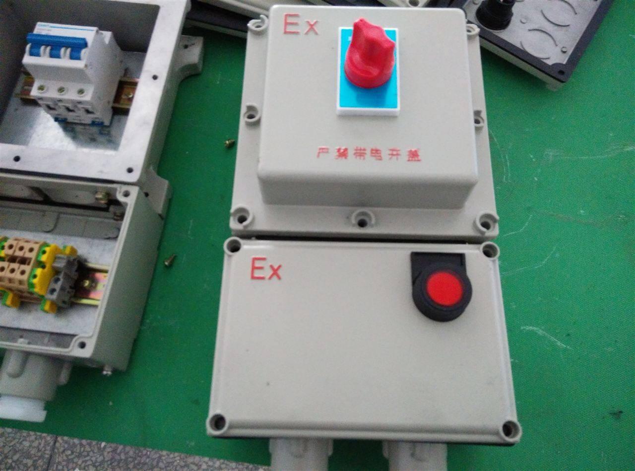 内装断路器,交流接触器和热过载继电器,通过操作防爆客体外的按钮