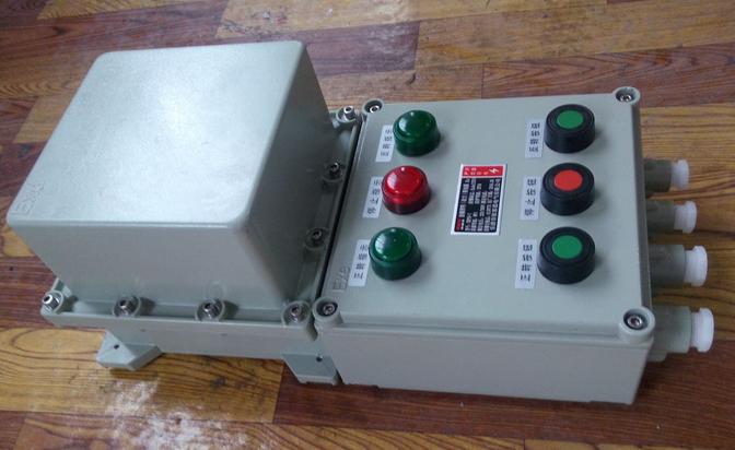本企业标准规定了BQC系列防爆磁力启动器(以下简称启动器)的产品分类、要求、试验方法、检验规则、标志、包装、运输及贮存等要求。      本企业标准适用于启动器的设计、制造与检验。      启动器主要适用于爆炸性气体环境中1区或2区危险区域,爆炸性气体、蒸气为B或C、T4及以下场所,作为控制交流50Hz、额定电压至380V的三相异步电动机的直接起动、停止或反转之用。具有过载、断相、失压、短路等保护。      1、启动器由隔爆外壳和真空本体组成,真空本体装于隔爆外壳中。      2、启动器外壳