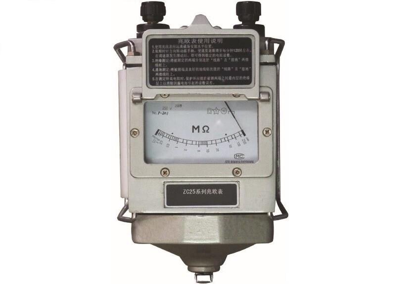 zc25-3型兆欧表适用于测量各种电机,电缆,变压器,电讯元器件,家用
