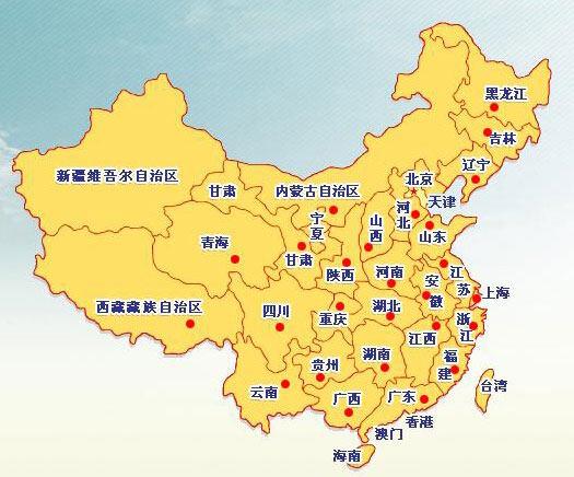 吕梁到杭州手绘地图